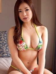 Minori Hatsune shows big tits and cunt in colorful lingerie